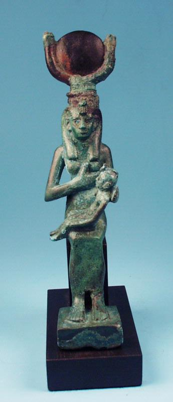 Egyptian Bronze Isis Nursing Horus