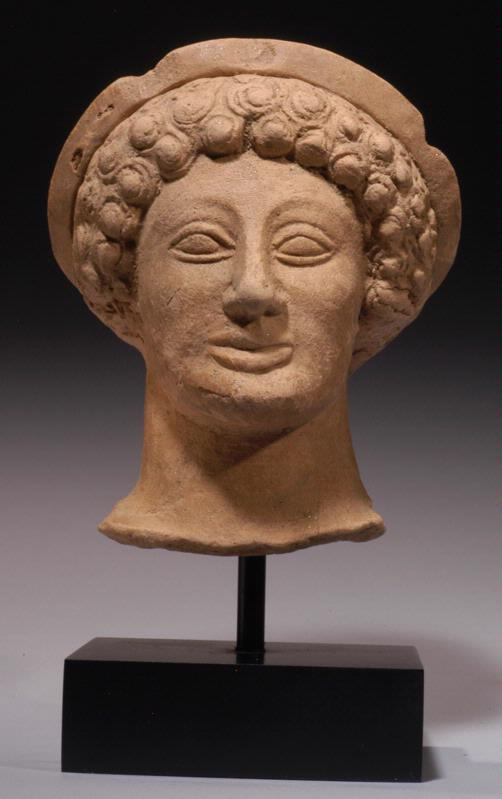 Greek Terracotta Head of a Maenad