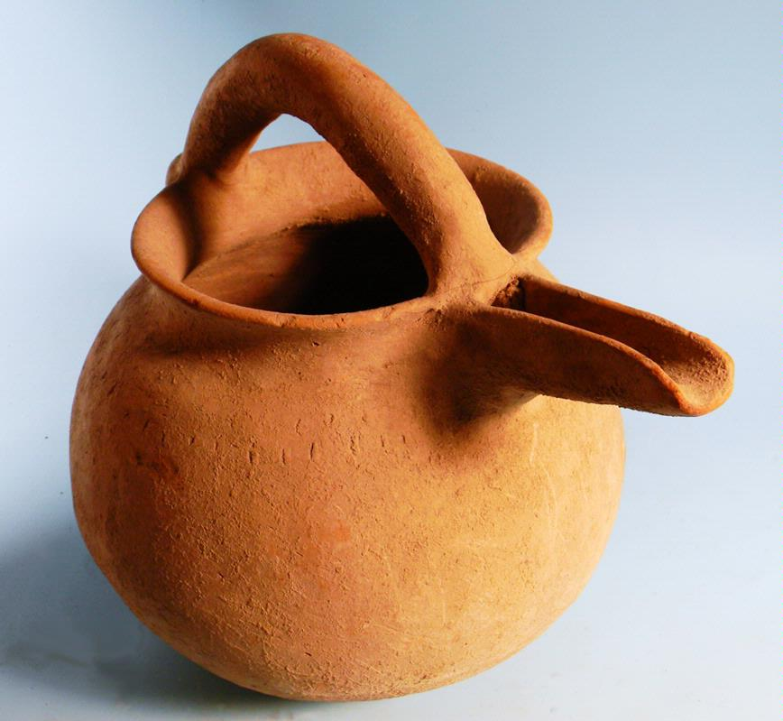 Luristan Spouted Pottery Vessel