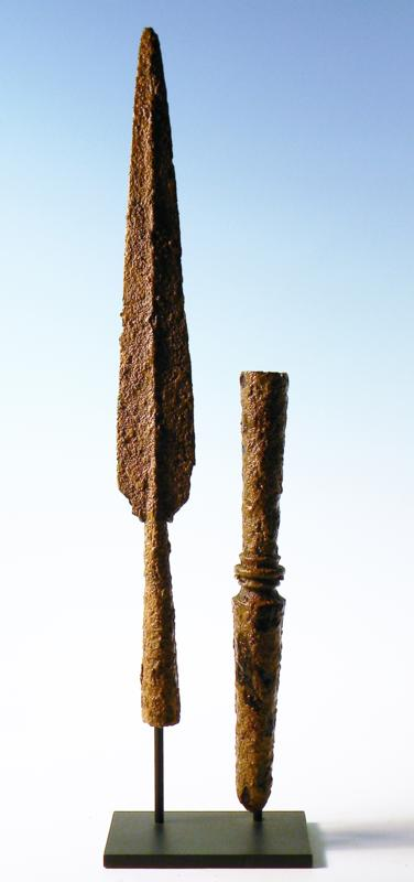 Greek Iron Spear and Sauroter