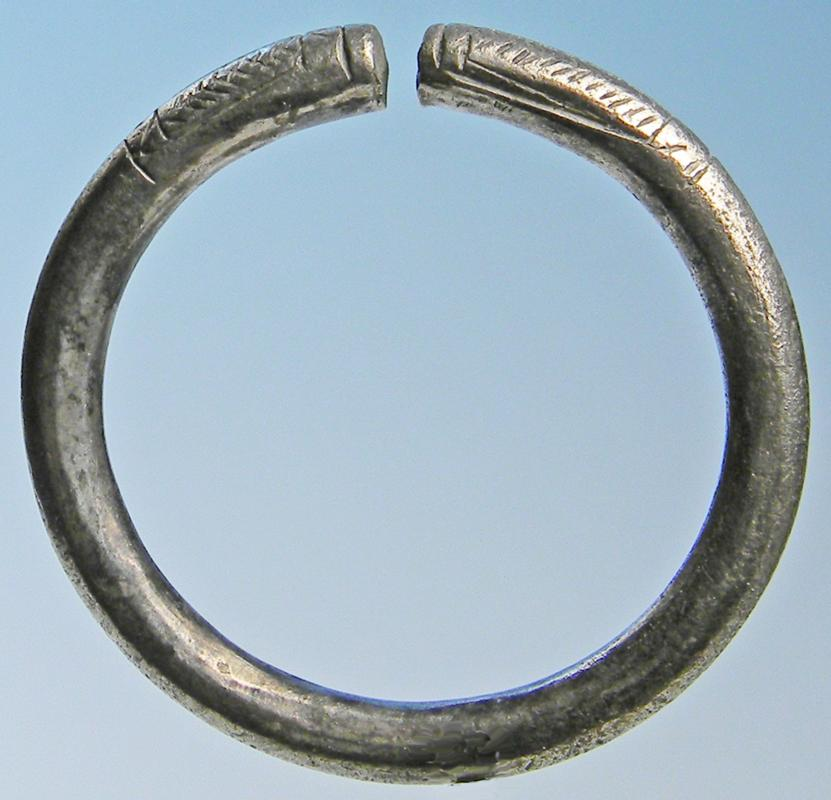 Medieval Silver Cloak Pin Ring