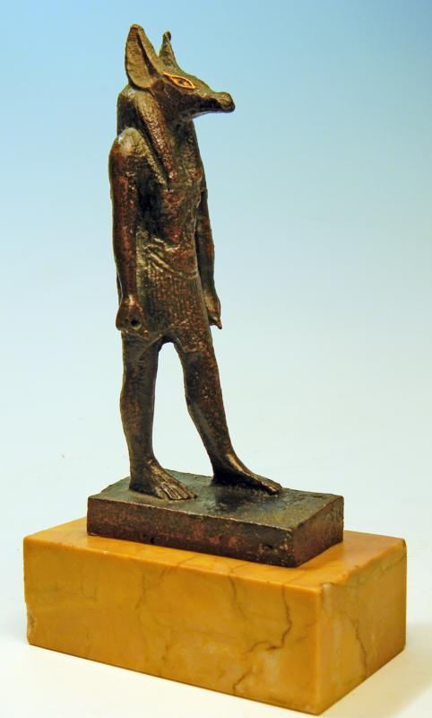 Egyptian Bronze Statuette of Anubis