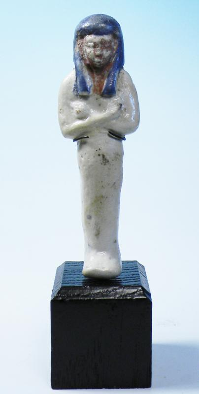 Egyptian Tricolor Faience Shabti