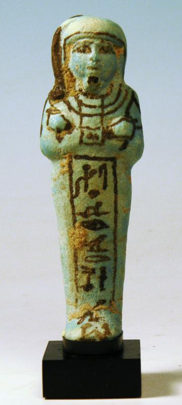 Egyptian Blue Faience Shabti of Hori