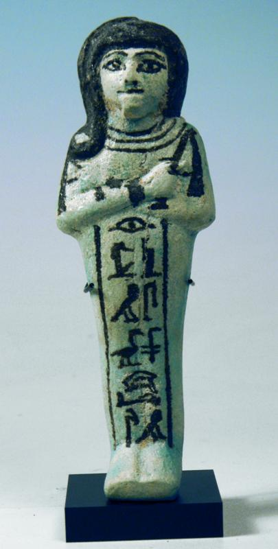 Egyptian Blue Faience Ushabti of Khaemwaset