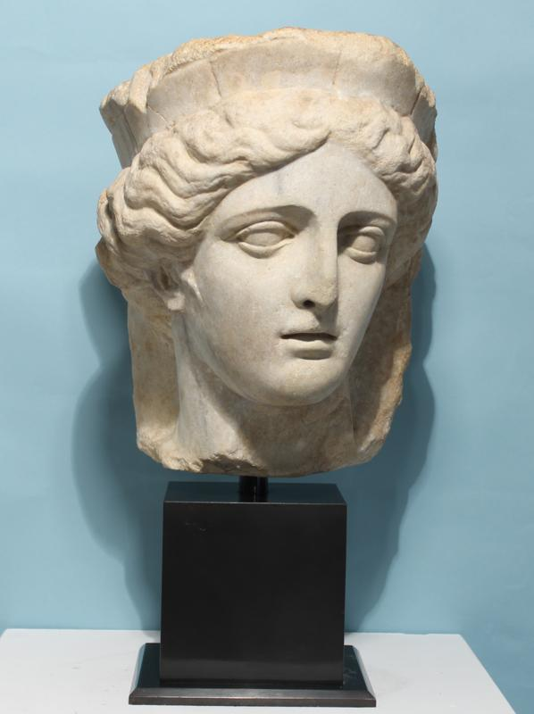 Colossal Roman Marble Head of Fortuna