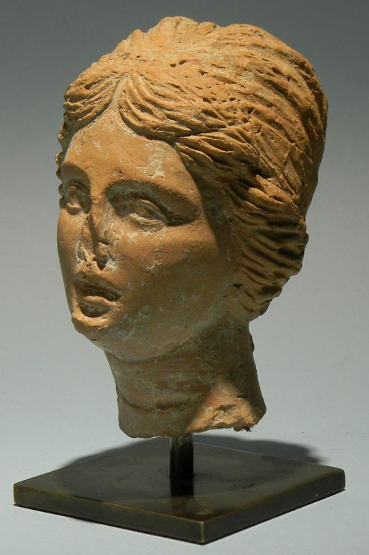 Greek Terracotta Head of Aphrodite
