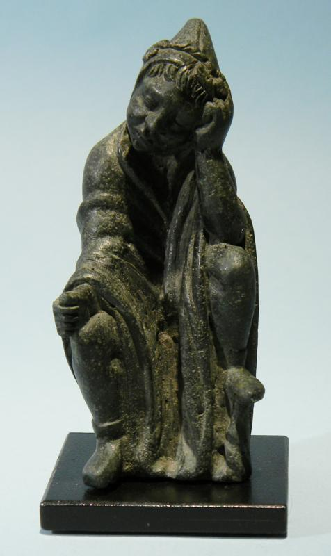 Greek Bronze Seated Slave
