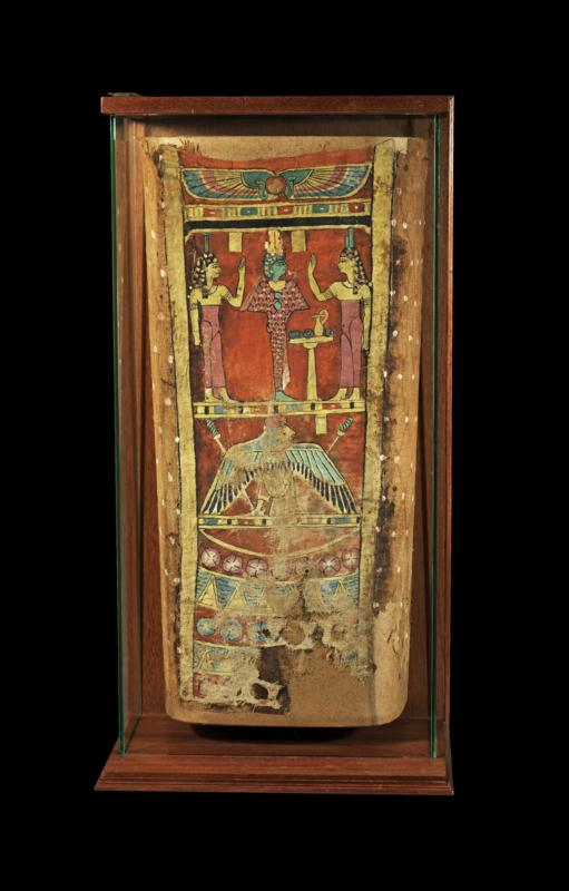 Egyptian Painted Linen Mummy Wrapping