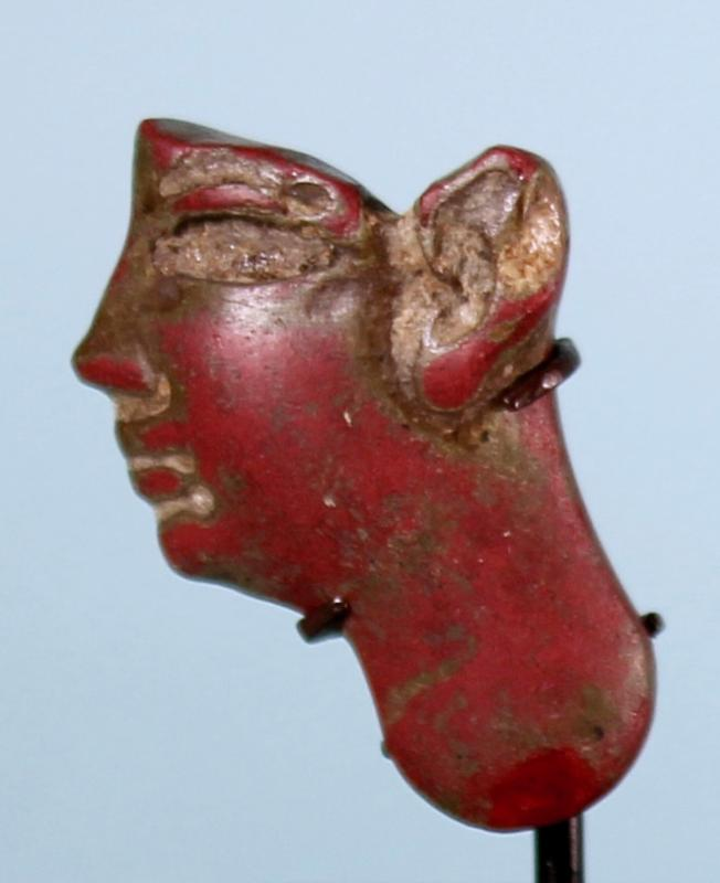 Egyptian Red Glass Head Inlay