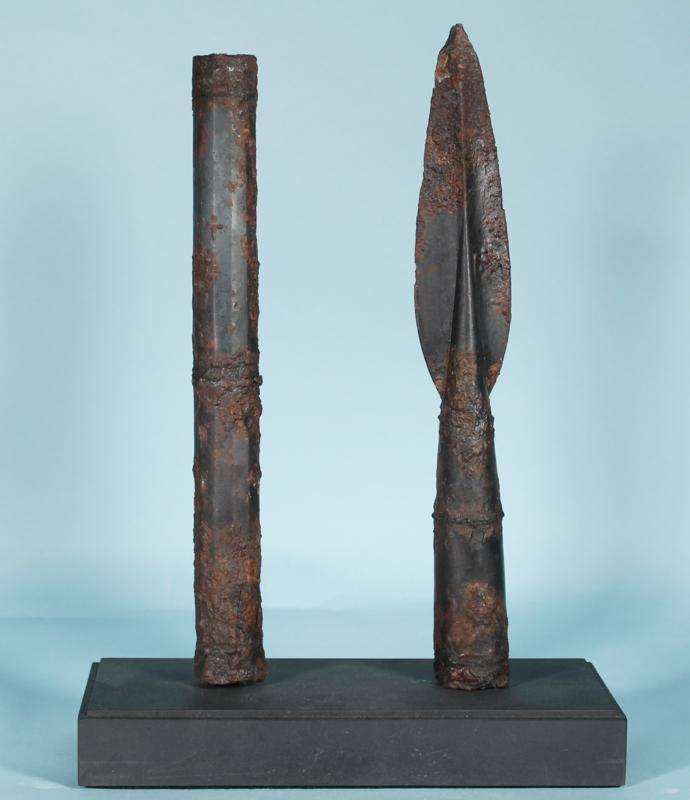 Macedonian Iron Spear and Bracket