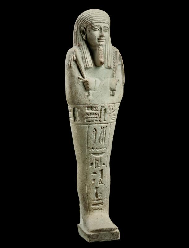 Egyptian Faience Ushabti of Djehuty-Ir-Dis