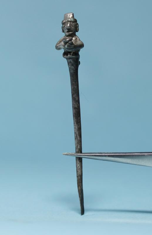 Inca Silver Spoon: Man with Cup