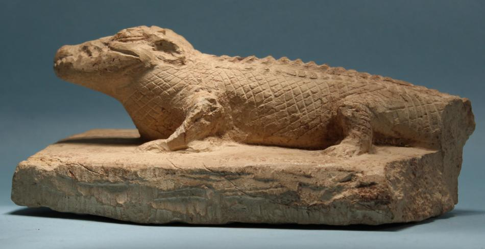 Egyptian Limestone Crocodile
