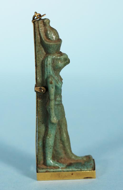 Egyptian Faience Amulet of Horus