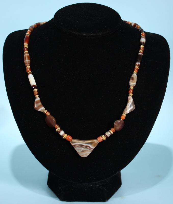 Babylonian Agate Bead Necklace