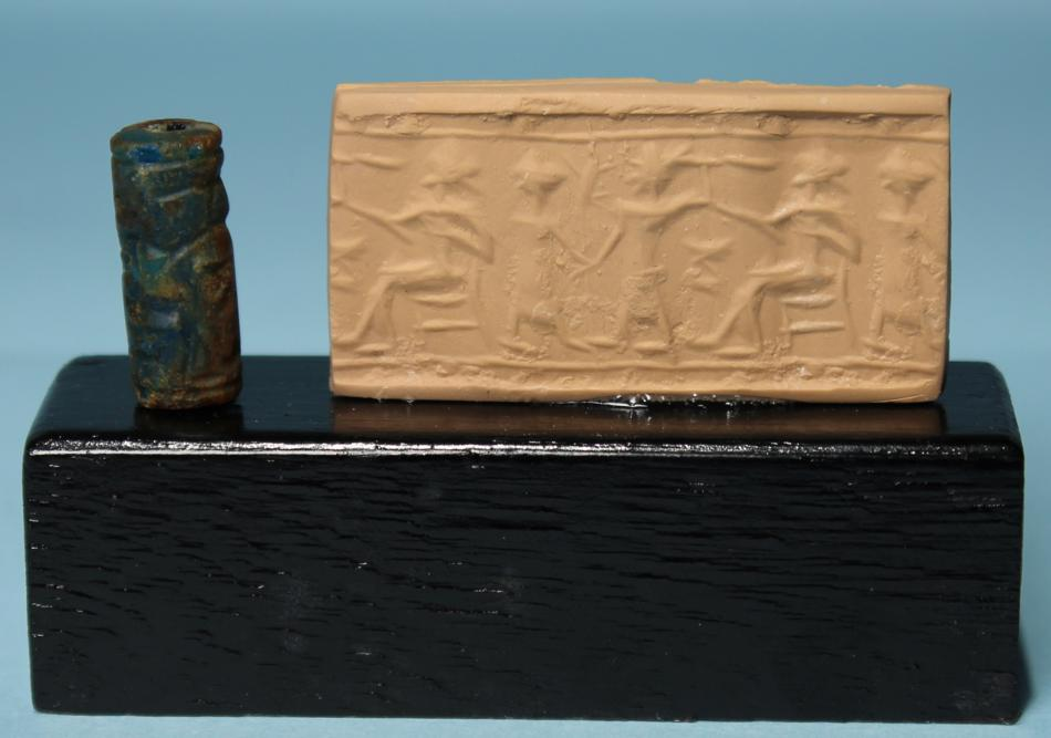 Old Babylonian Glass Paste Cylinder Seal