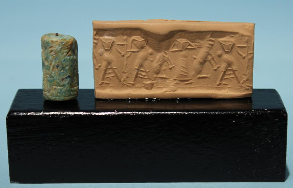Old Assyrian Glass Paste Cylinder Seal