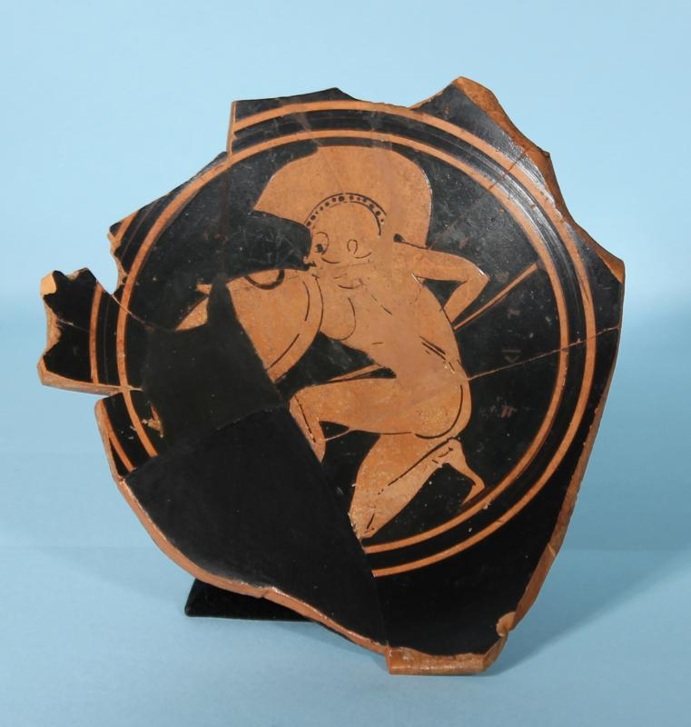 Attic Red-Figure Kylix Fragment: Hoplite