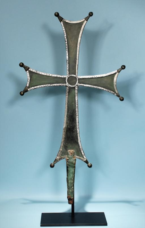 Byzantine Bronze and Silver Cross