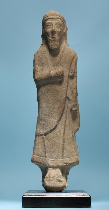 Cypriot Terracotta Cloaked Man