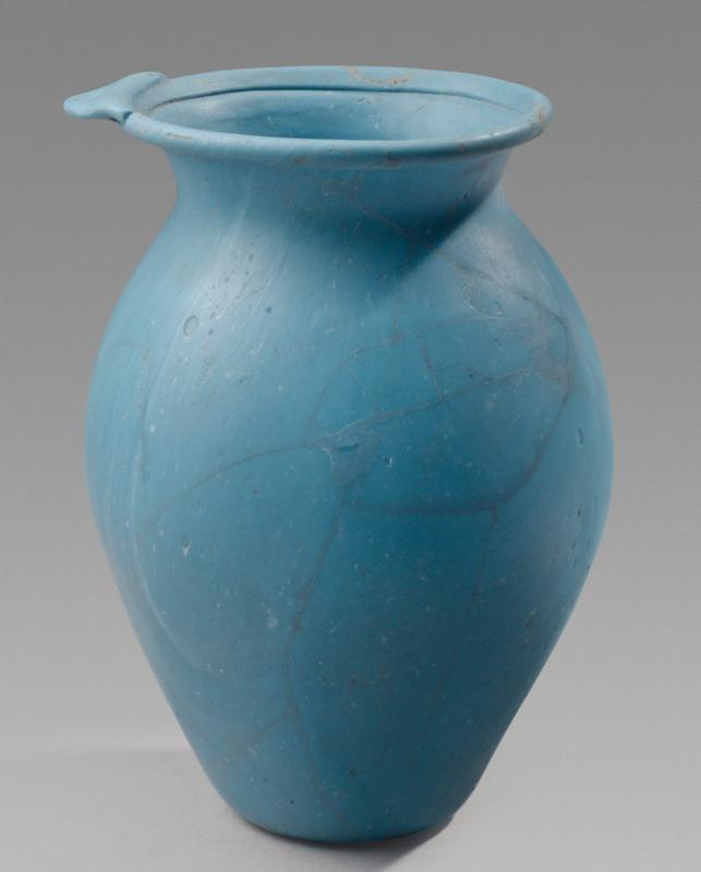 Roman Opaque Blue Glass Pitcher