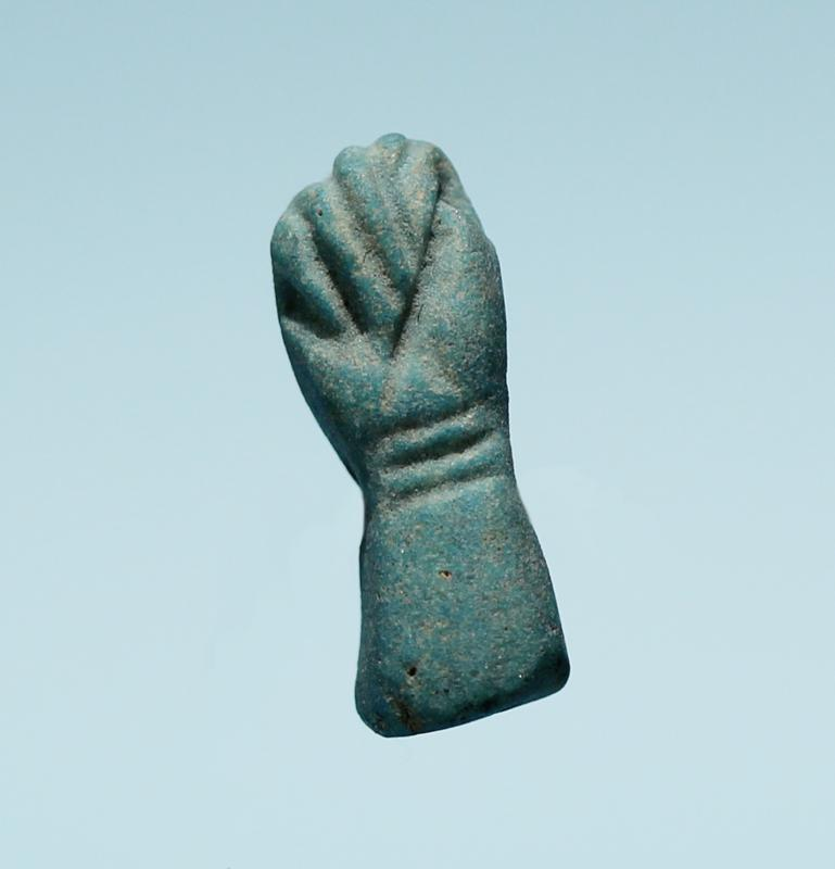 Egyptian Faience Hand Amulet