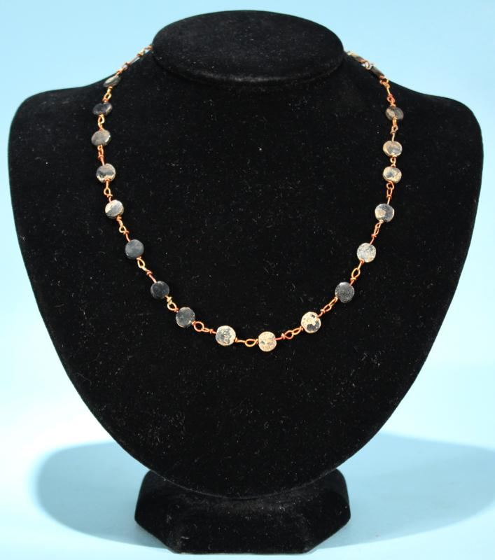 Roman Gold and Glass Necklace
