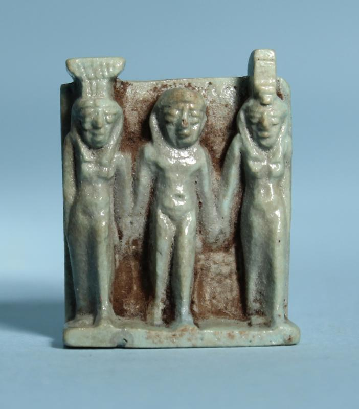 Egyptian Faience Triad Amulet