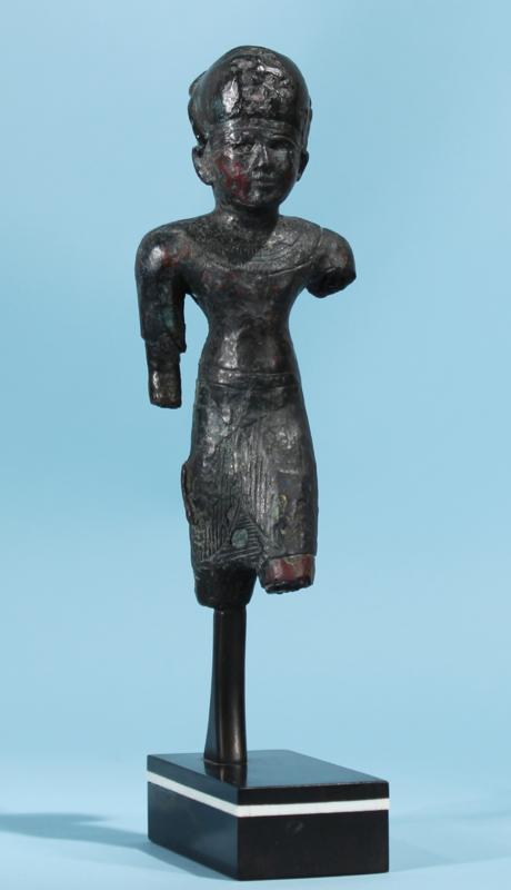Egyptian Bronze Statuette of a Pharaoh
