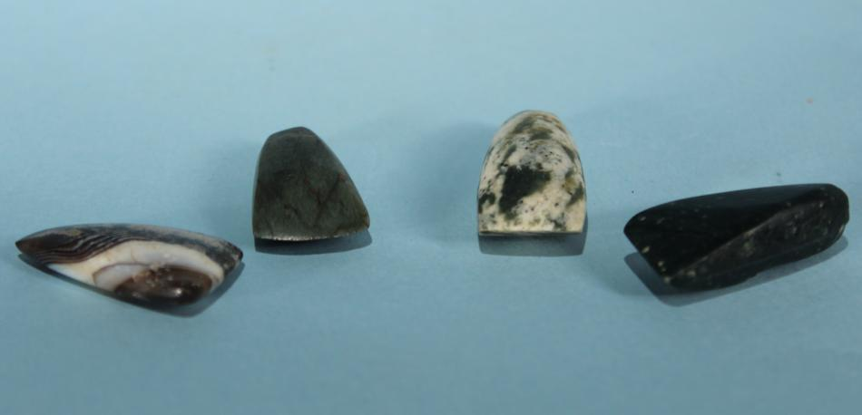 Four Canaanite Stone Votive Axes