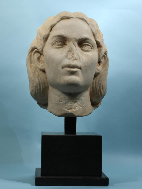 Roman Marble Portrait Head of a Woman