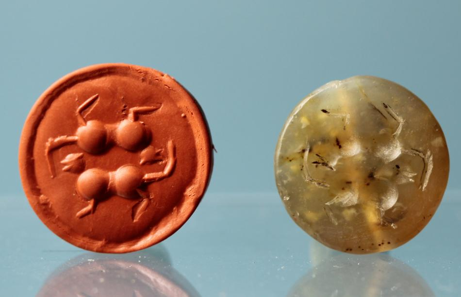 Sumerian Stamp Seal: Cats