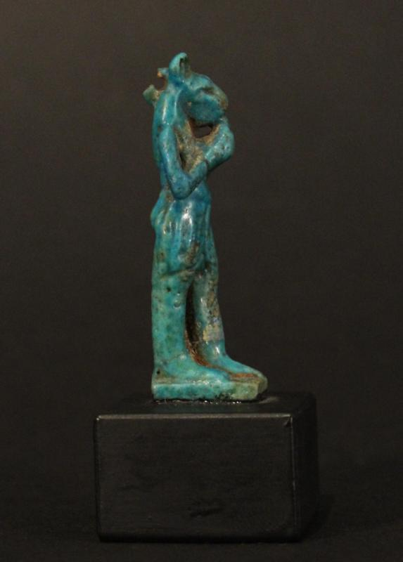 Egyptian Faience Amulet of Mayhes