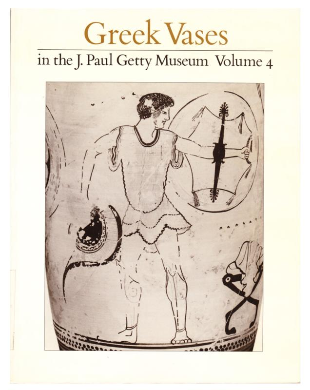 Greek Vases in the J. Paul Getty Museum, Volume 4 (1989, Softcover)