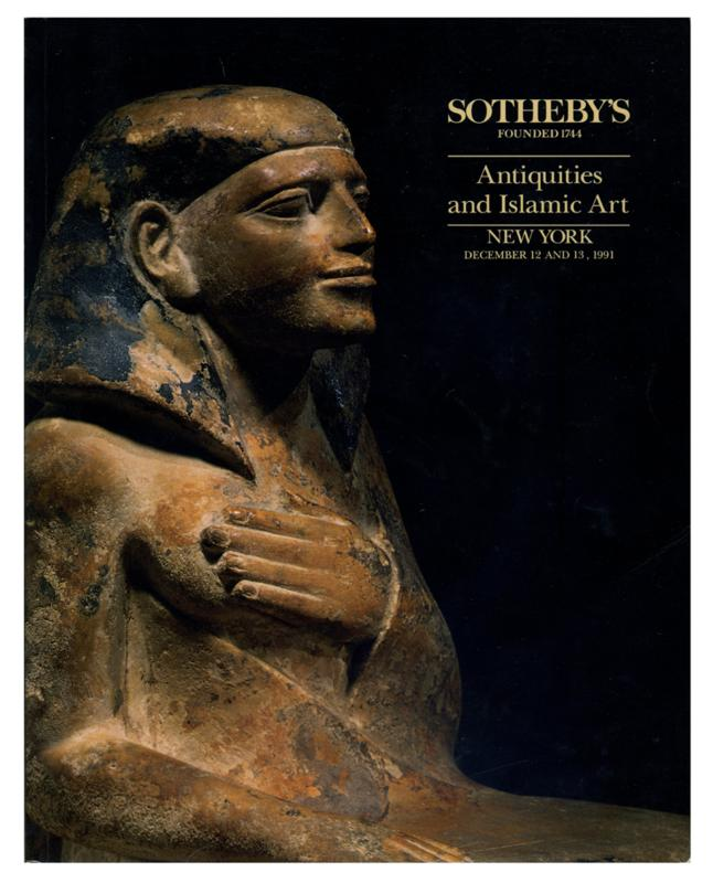 Sotheby's Auction Catalog, December 12 and 13, 1991 Sale # 6257