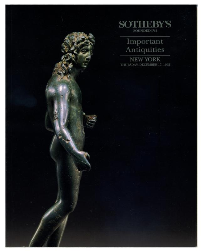 Sotheby's Auction Catalog, December 17, 1992 Sale # 6383