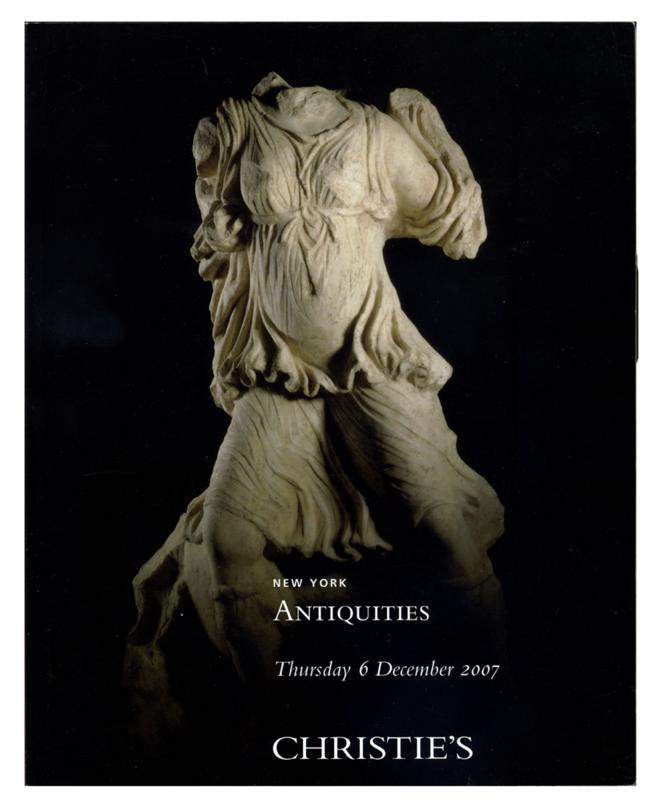Antiquities, Christie's, Sale 1915, December 6, 2007
