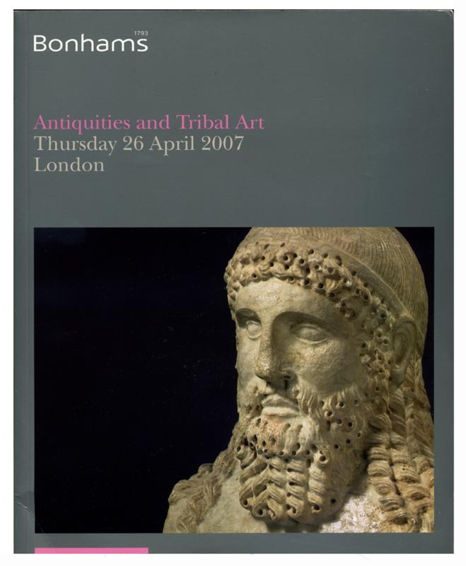 Bonhams Auction Catalog, April 26, 2007