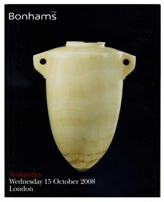 Bonhams Auction Catalog, October 15, 2008