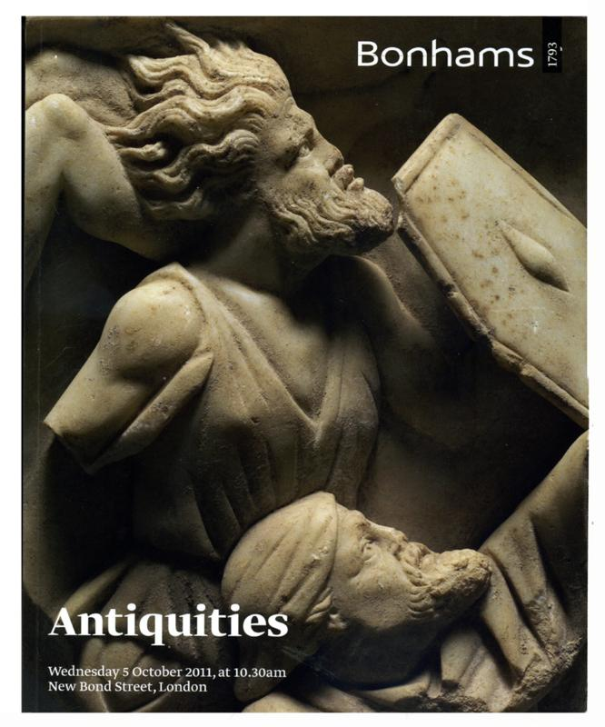 Bonhams Auction Catalog, October 5, 2011