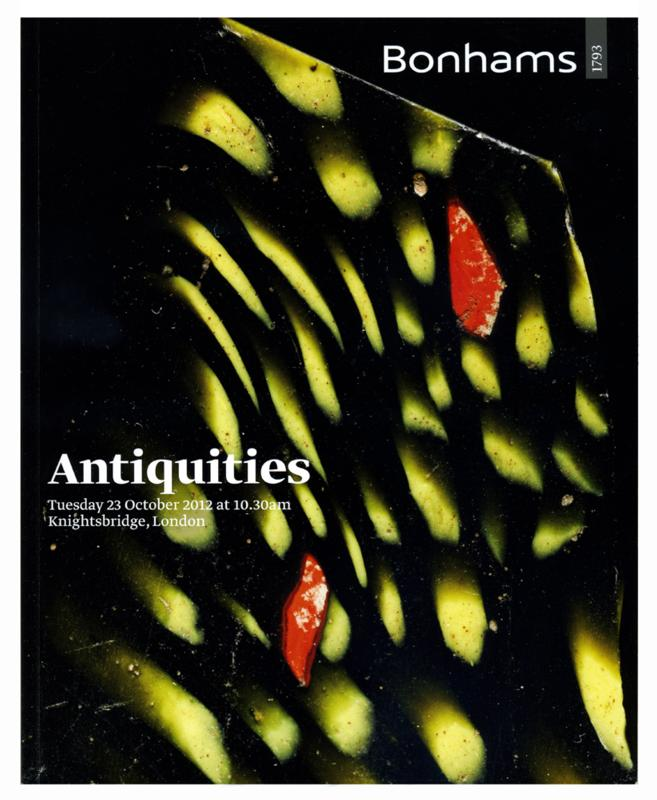 Bonhams Auction Catalog, October 23, 2012