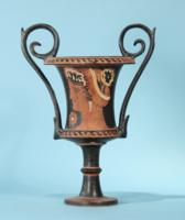 Apulian Greek Red-Figure Kantharos