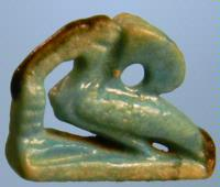 Egyptian Faience Thoth Ibis Amulet