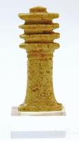 Egyptian Faience Djed Pillar Amulet
