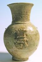 Egyptian Faience Vase: Bes