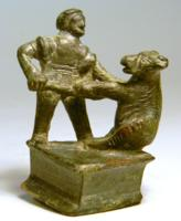 Roman Bronze Bear Trainer