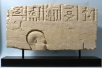Egyptian Limestone Relief of Priest