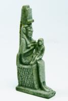 Egyptian Faience Isis Nursing Horus Amulet