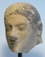 Etruscan Terracotta Head of a Goddess